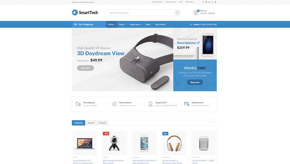 smart tech ecommerce website template