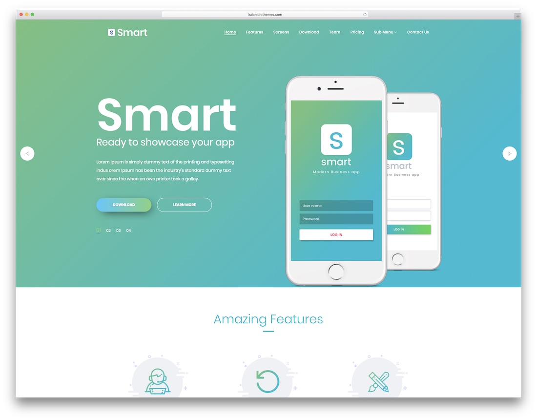 smart technology website template