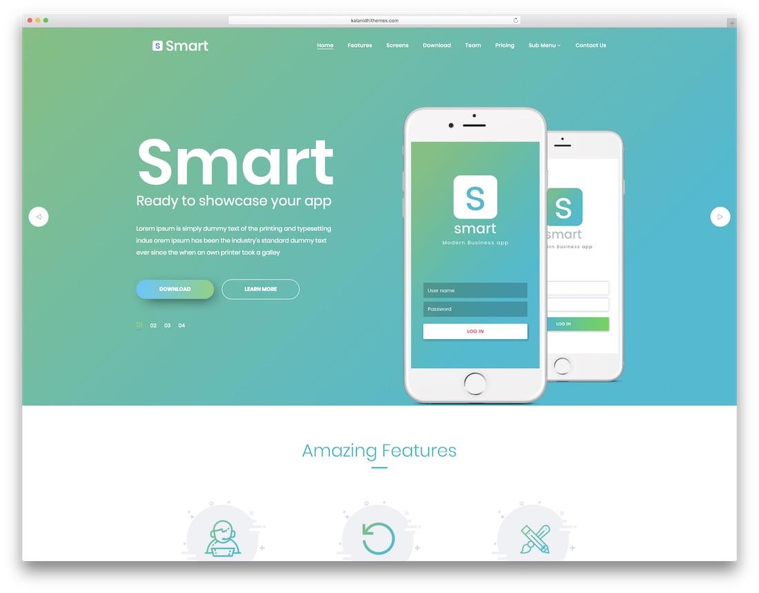 smart technology website template