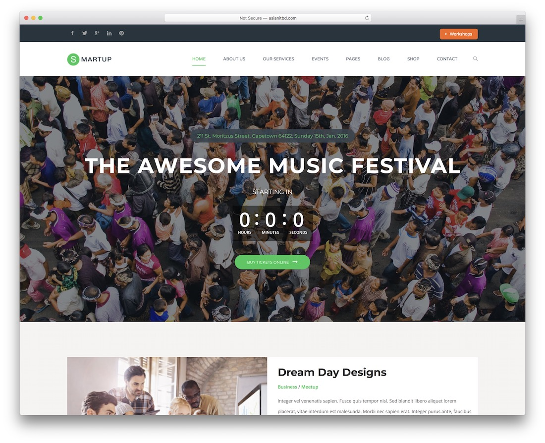 smart up event planner wordpress theme
