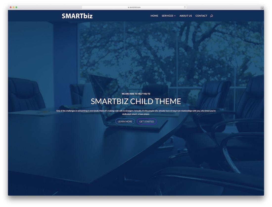 smartbiz responsive divi child theme