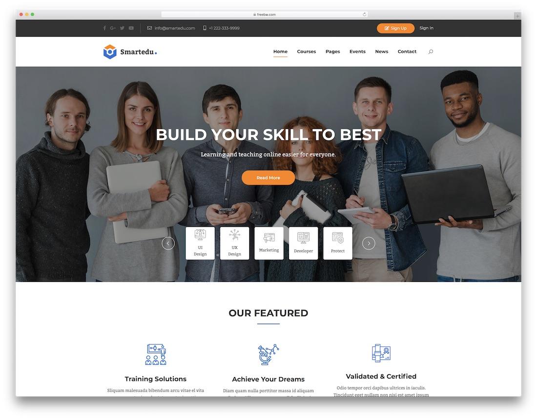 smartedu community website template