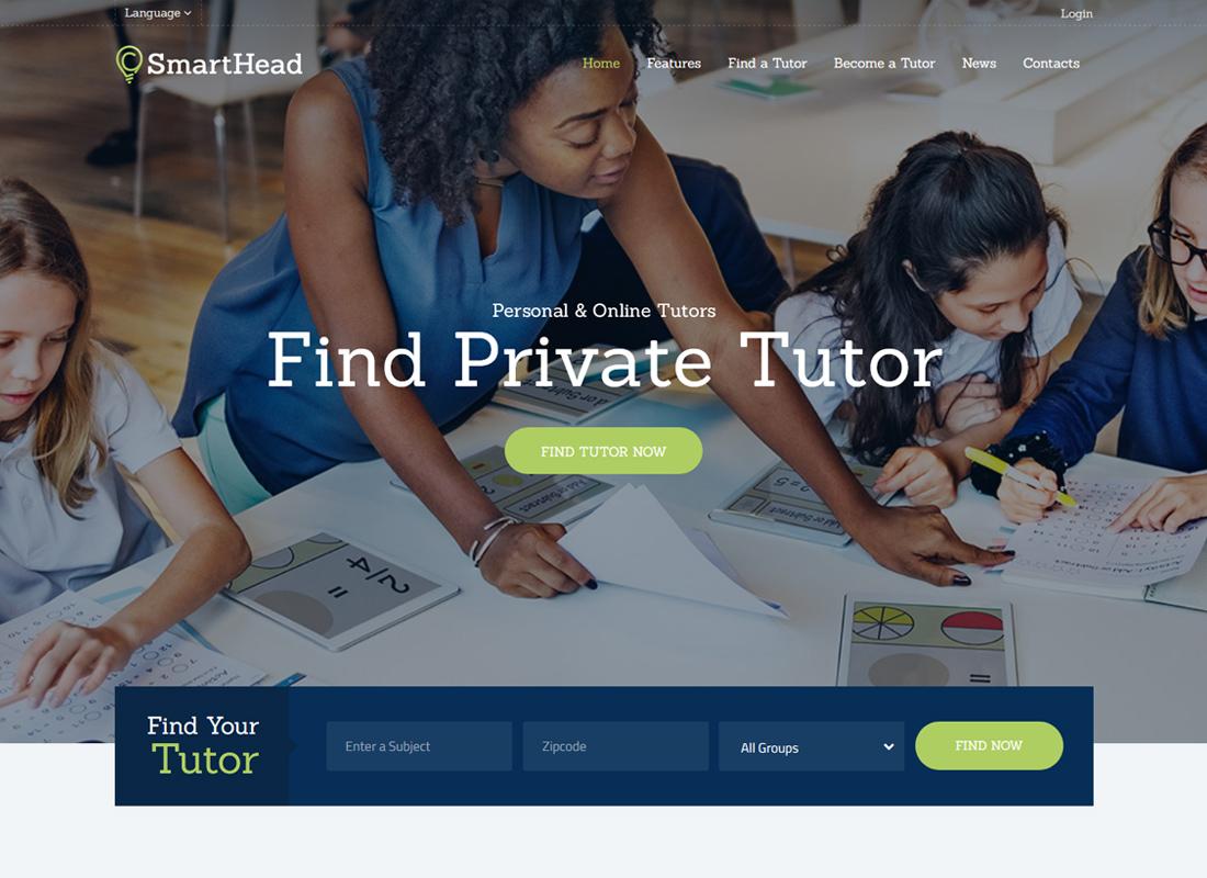 SmartHead   Tutoring Service & Online School WordPress Theme