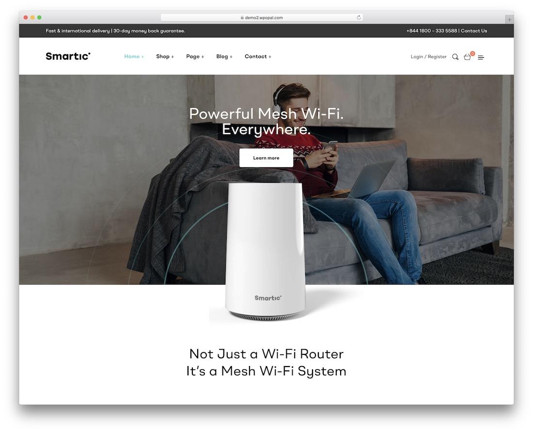 smartic sales page wordpress theme