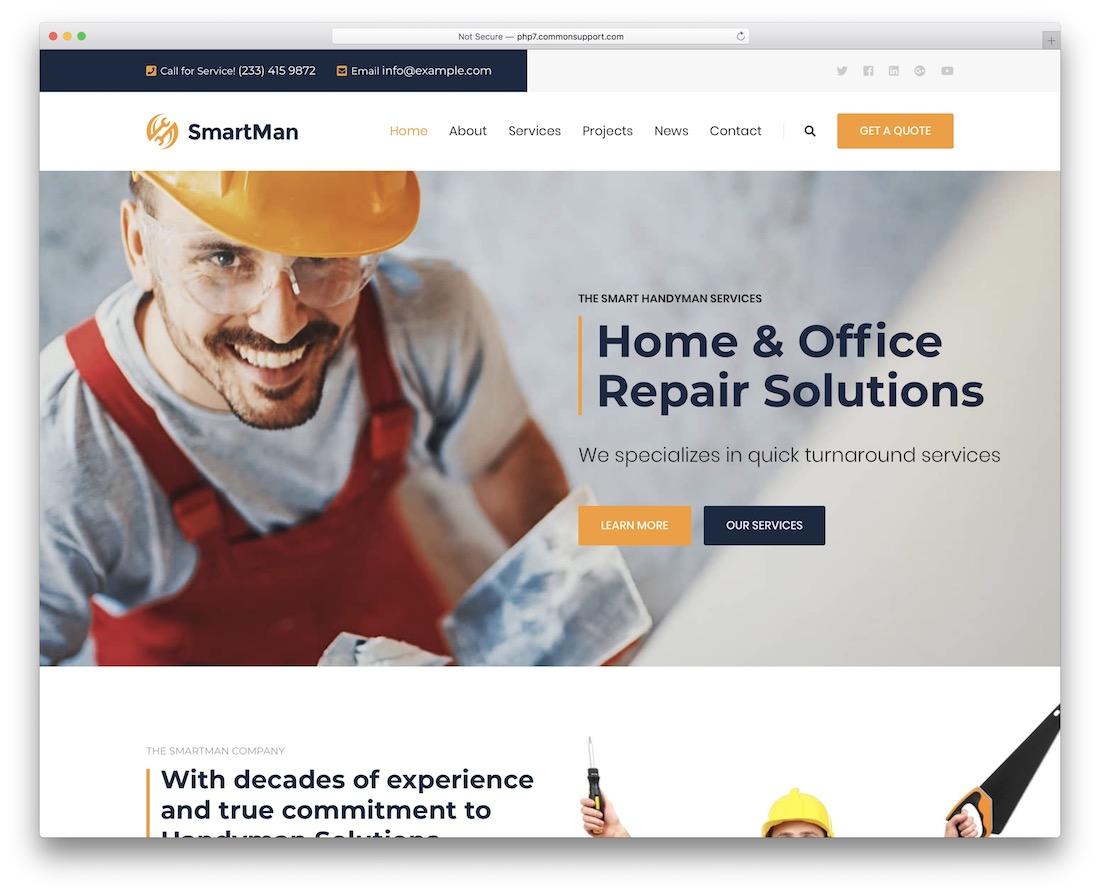 smartman handyman wordpress theme