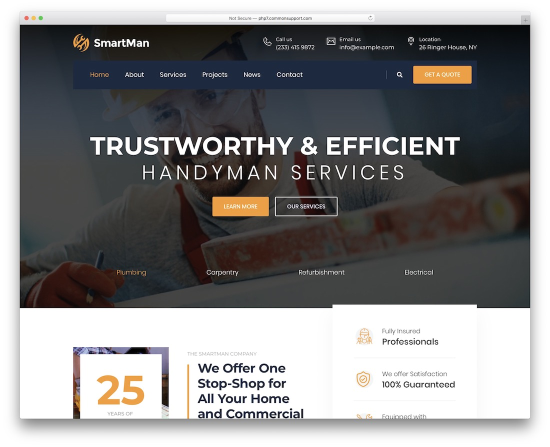 smartman plumber wordpress theme