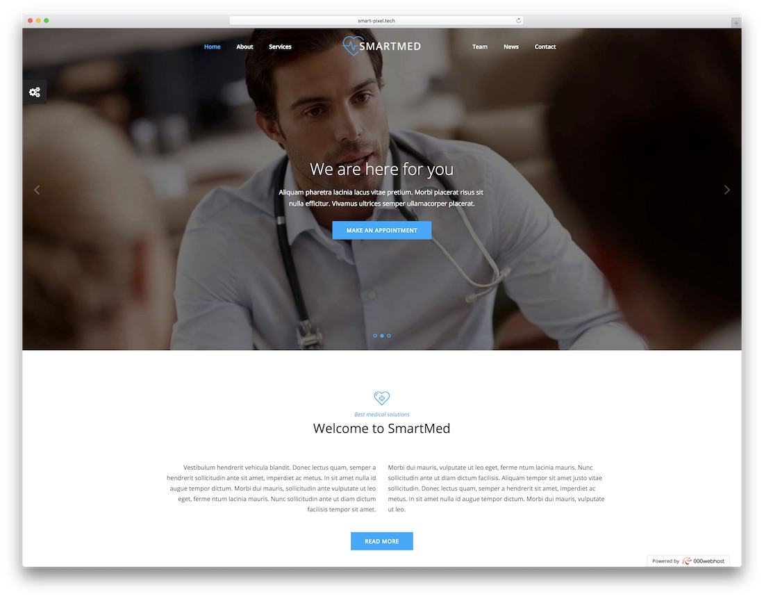 smartmed html5 medical website template