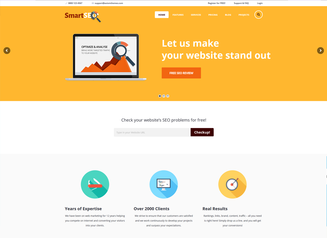 SmartSEO | SEO & Marketing Services WordPress Theme