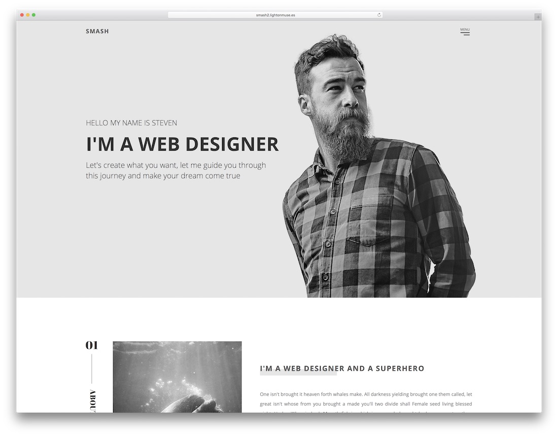 smash adobe muse template