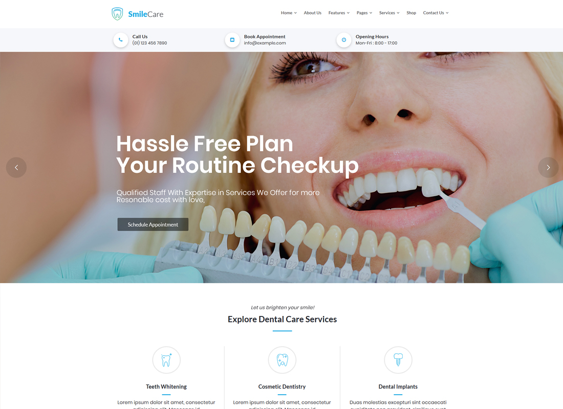 SmileCare | Medical & Dentist WordPress Theme