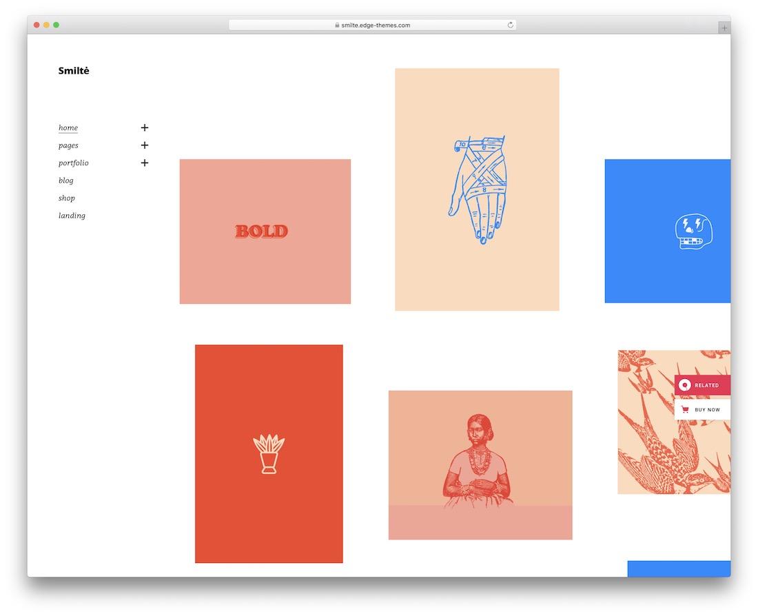 smilte simple wordpress theme