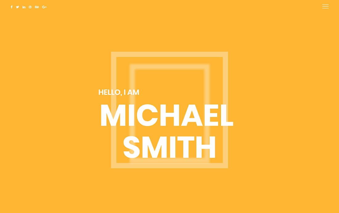 smith resume website template