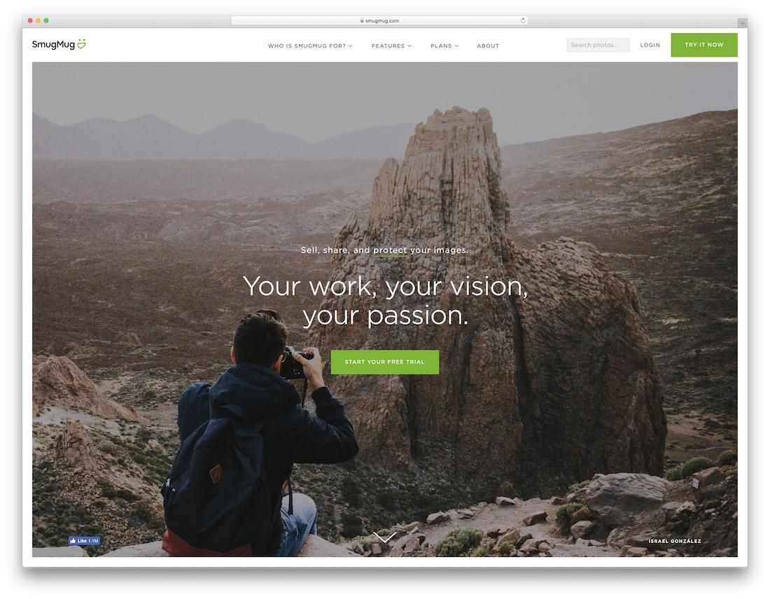 smugmug best website builder for photographers