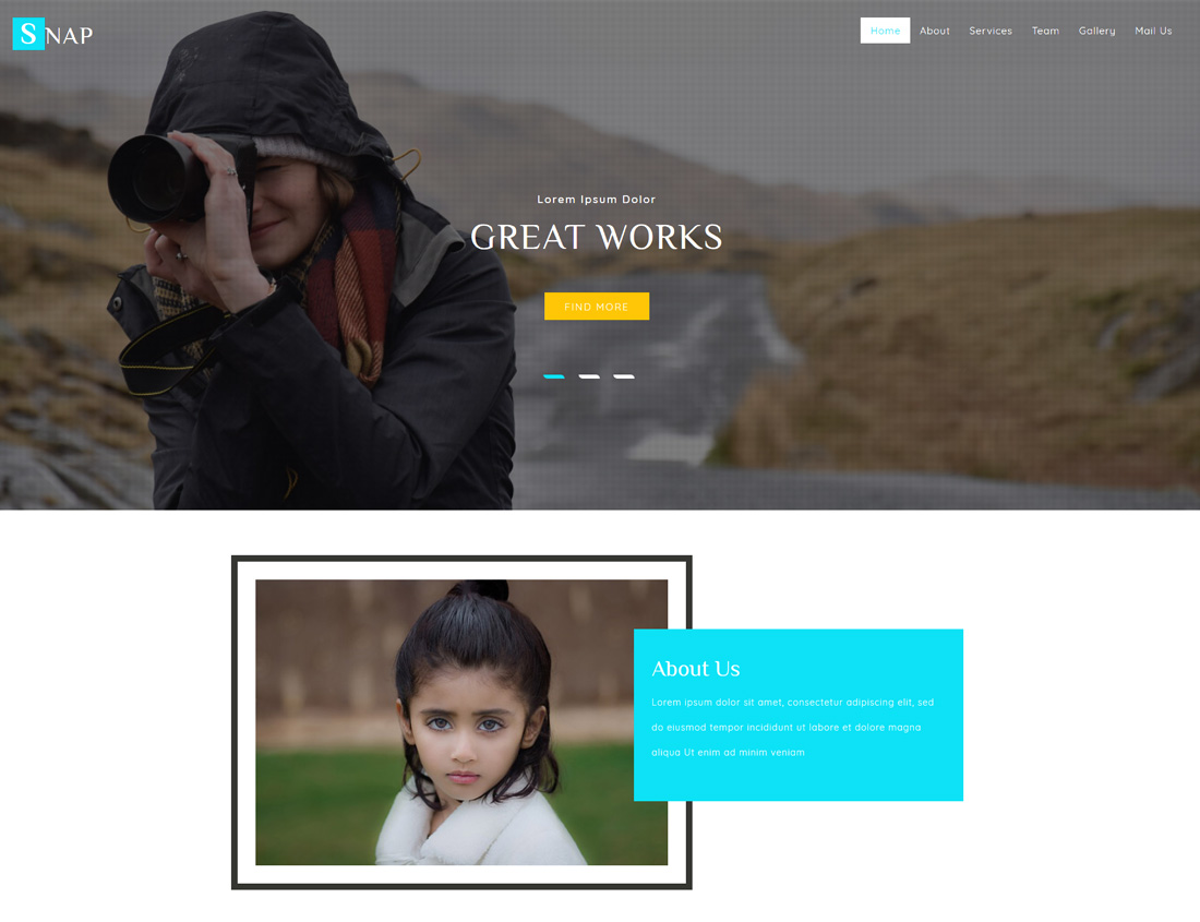 snap-free-bootstrap-gallery-templates