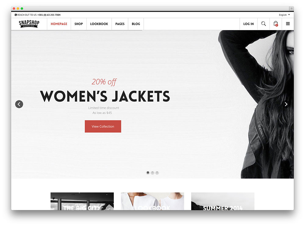 snapshop responsive wordpress shop theme