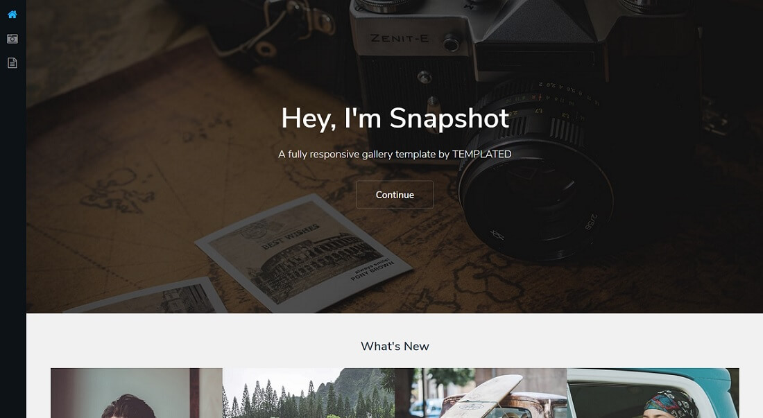 snapshot free HTML website template
