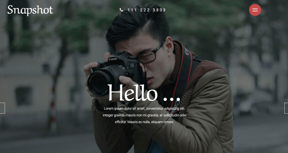 20+ Best Stunning Free Photography Website Templates [HTML & WordPress ]