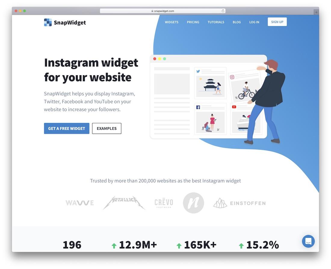 snapwidget instagram engagement widget