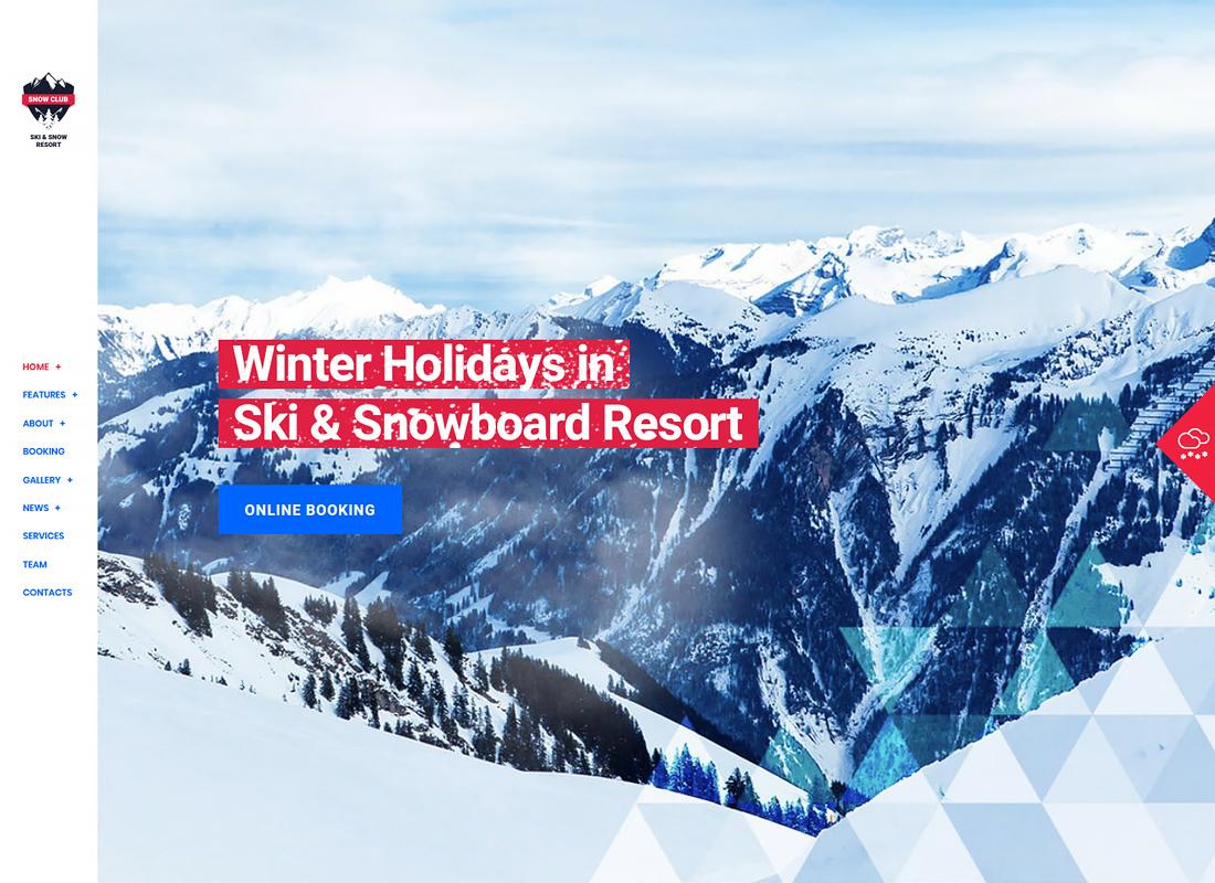 Snow Club - Ski Resort and Snowboard Classes WordPress Theme