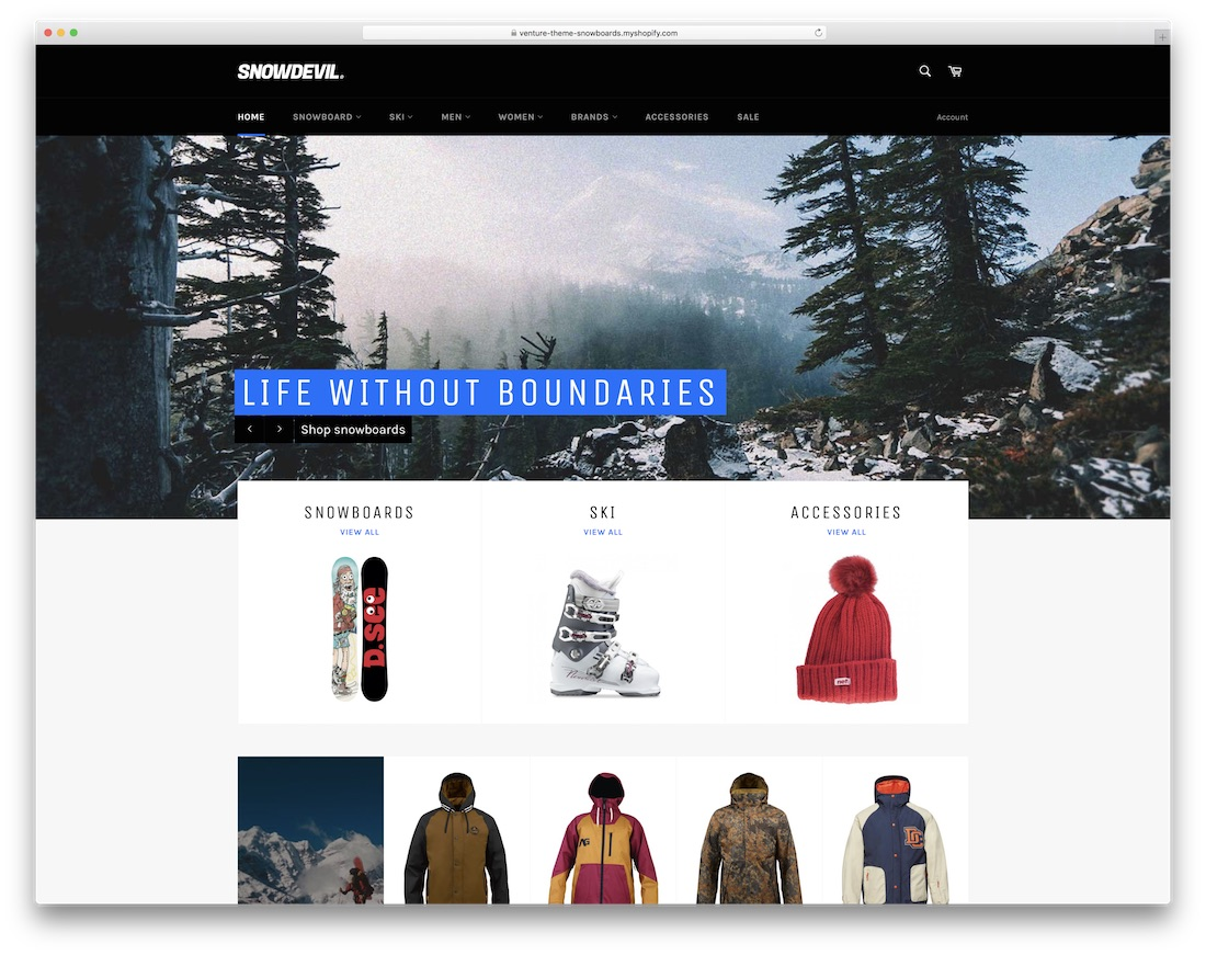 snowdevil free best shopify theme