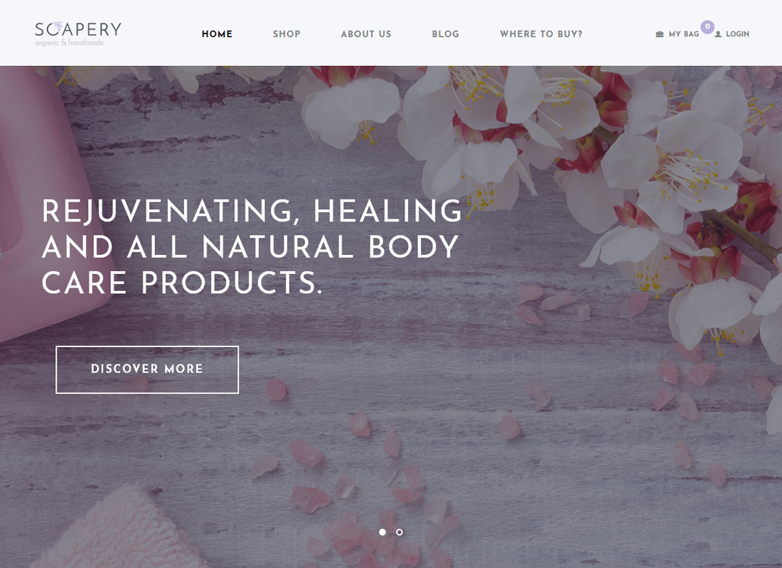 Soapery | Handmade Soap & Handcrafted Products Shop WordPress Theme