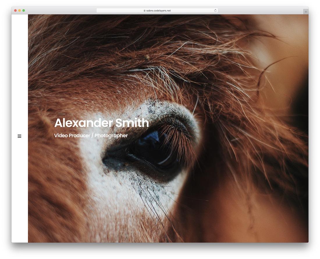 sobre joomla photo portfolio template