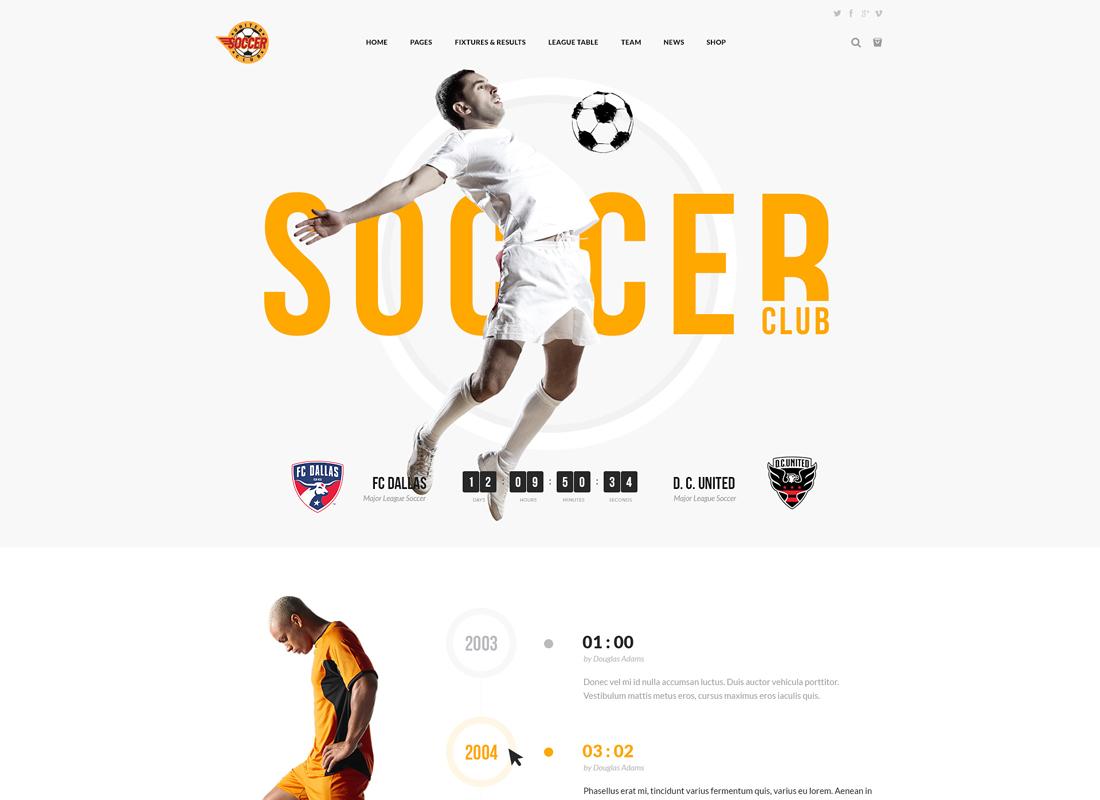 Soccer Club | Sports WordPress Theme