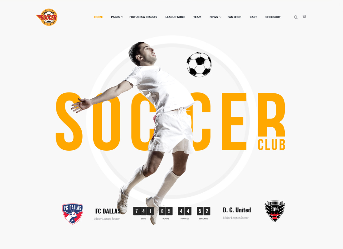 Soccer Club - WordPress Theme
