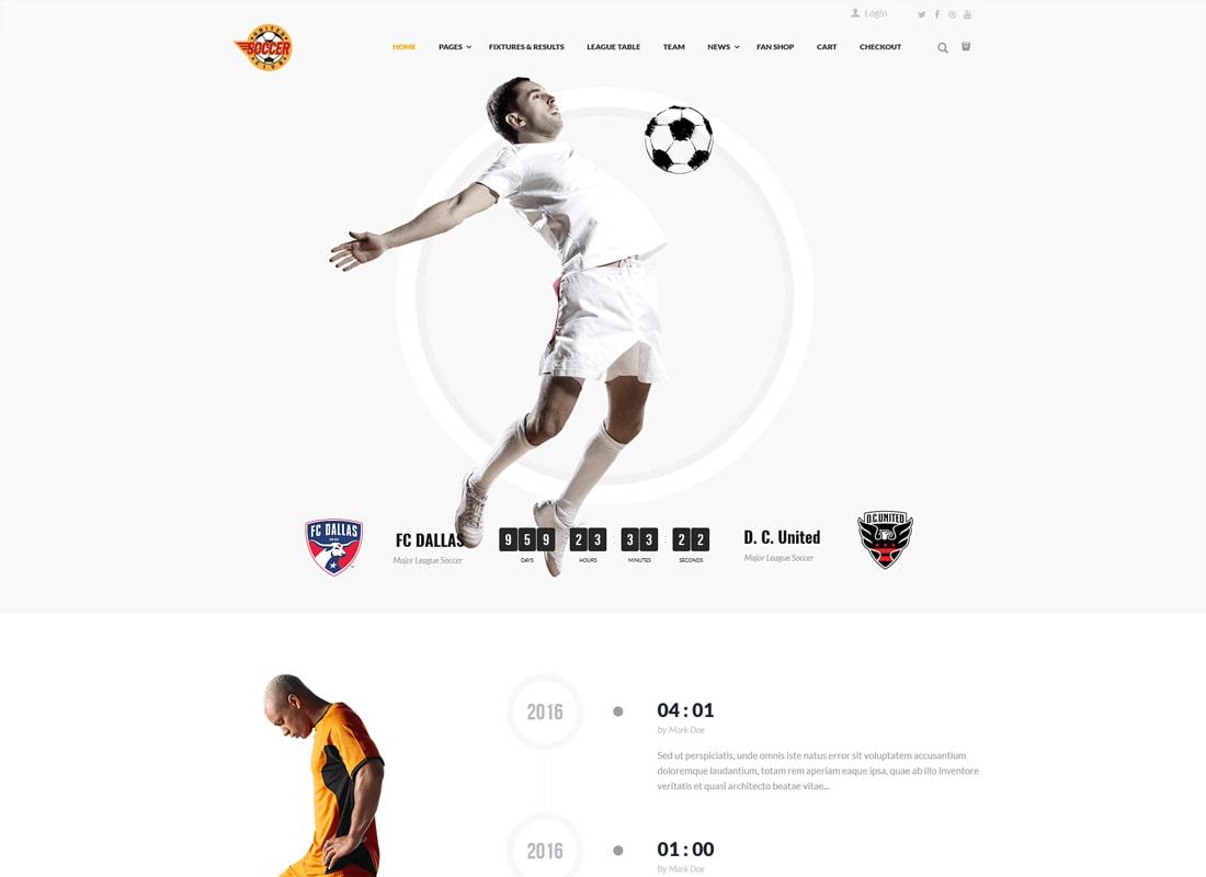Soccer Club | Football, Sports WordPress Theme