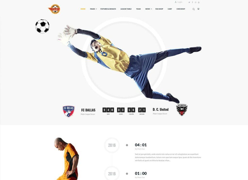 Soccer Club | Football Team WordPress Theme