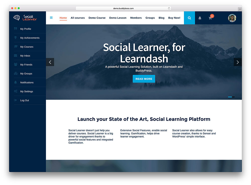 social-learner-buddypress-theme