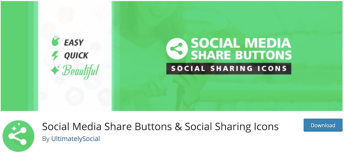 social media share buttons and icons