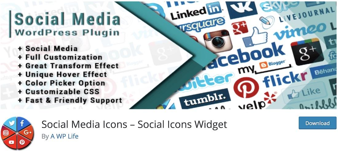 social media widget free plugin