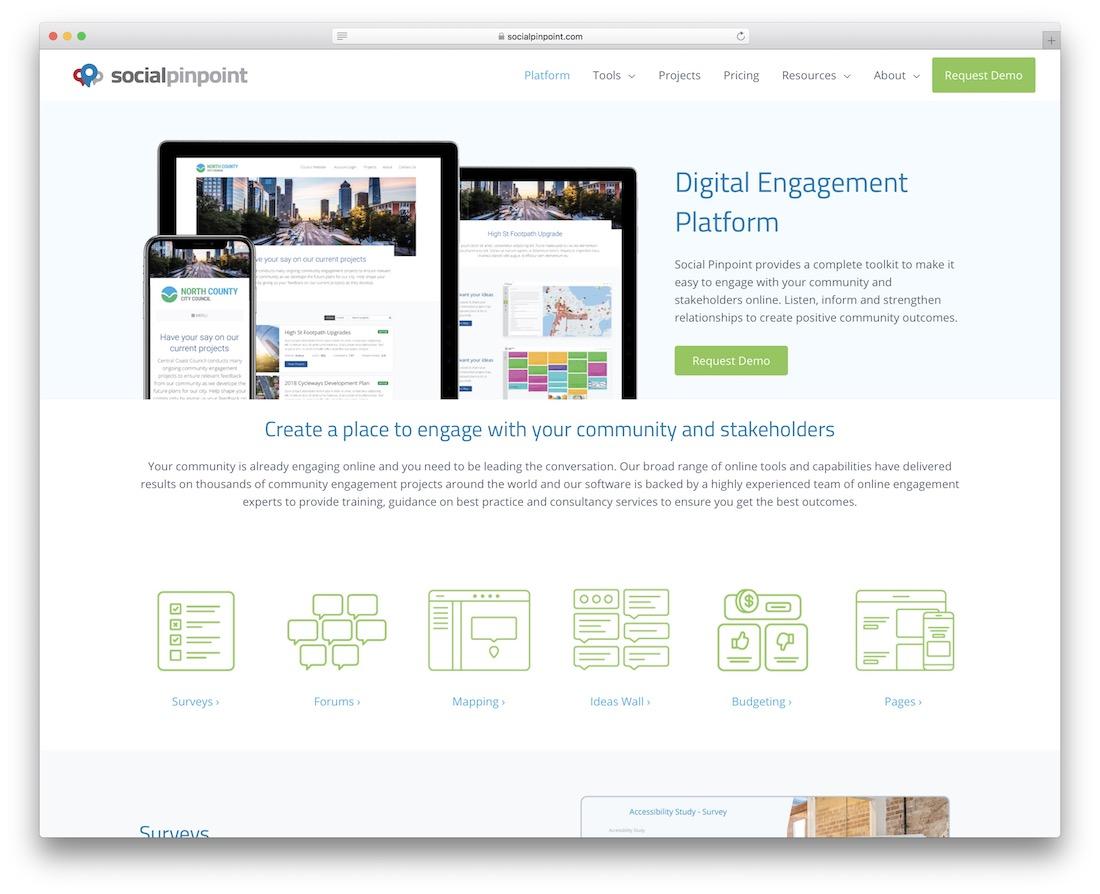 social pinpoint social engagement platform