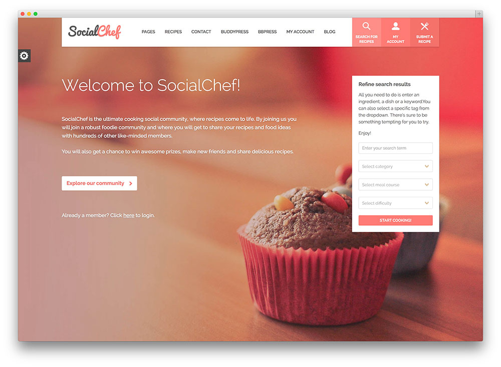 socialchef - cooking social network