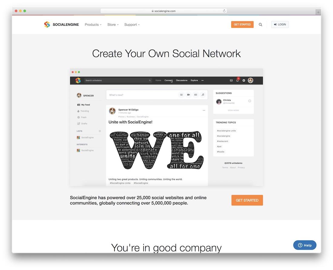 socialengine community website builder