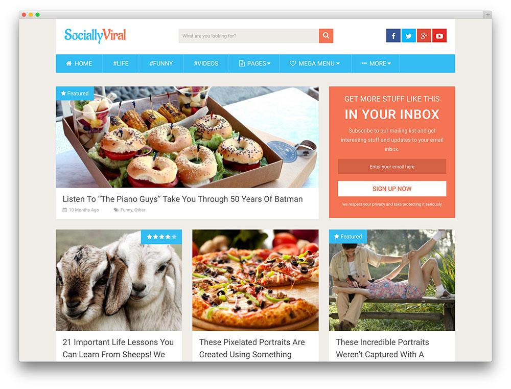 sociallyviral viral magazine template