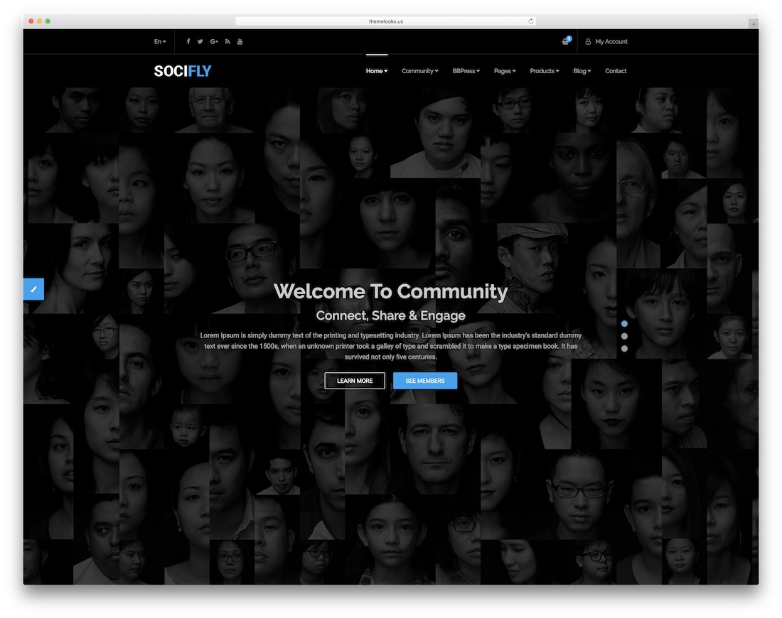 socifly community website template
