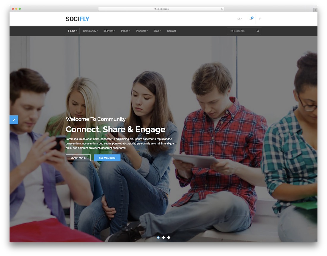 socifly professional website template