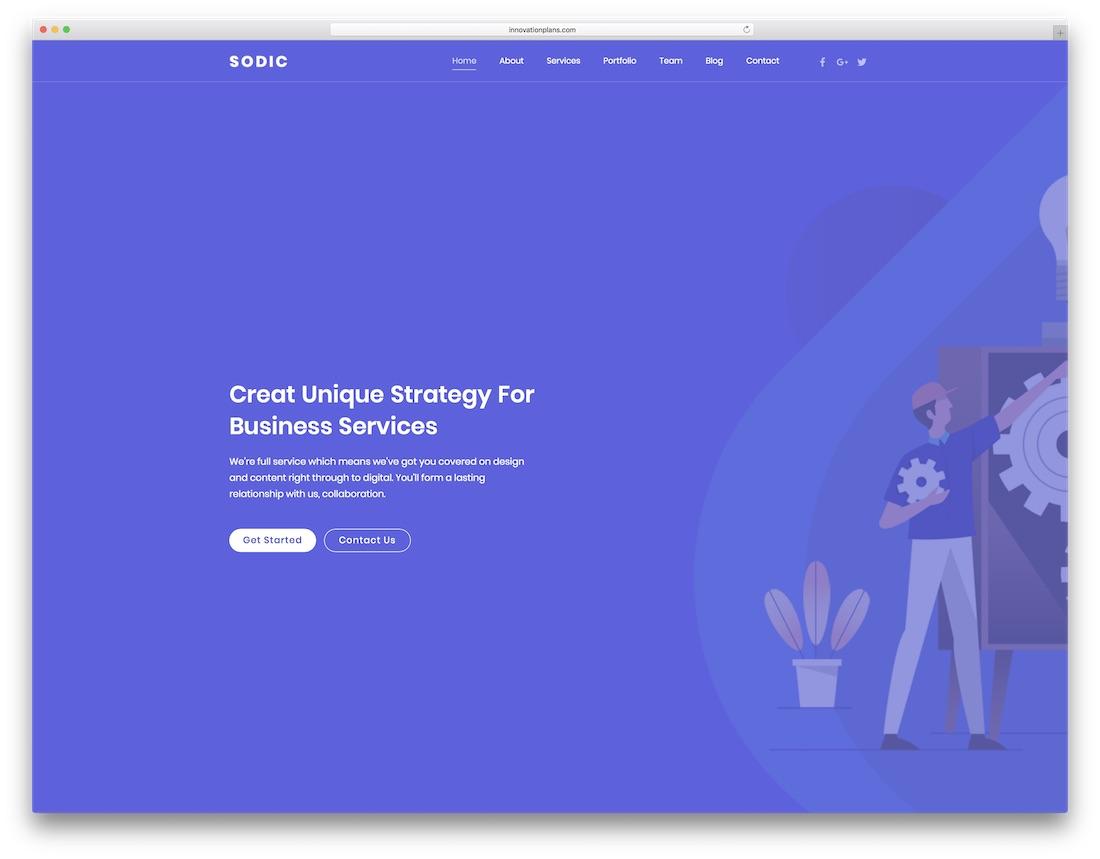 sodic business website template