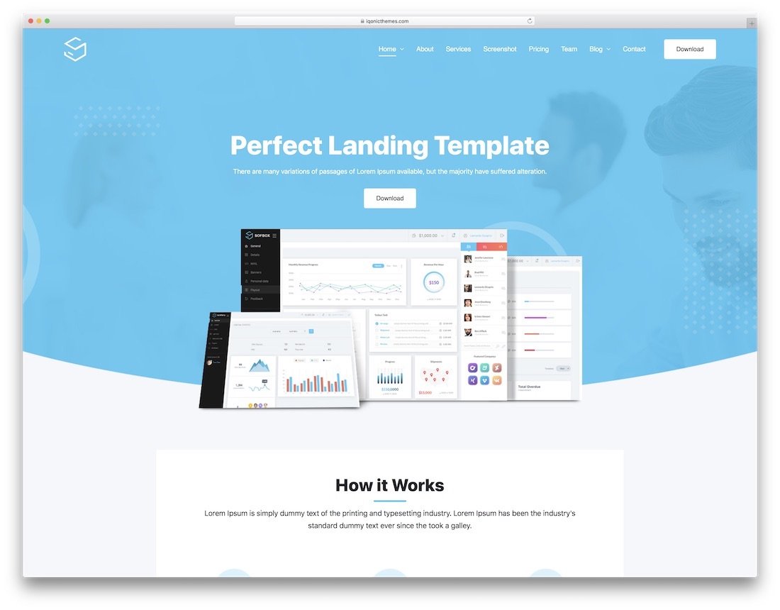 sofbox bootstrap wordpress theme