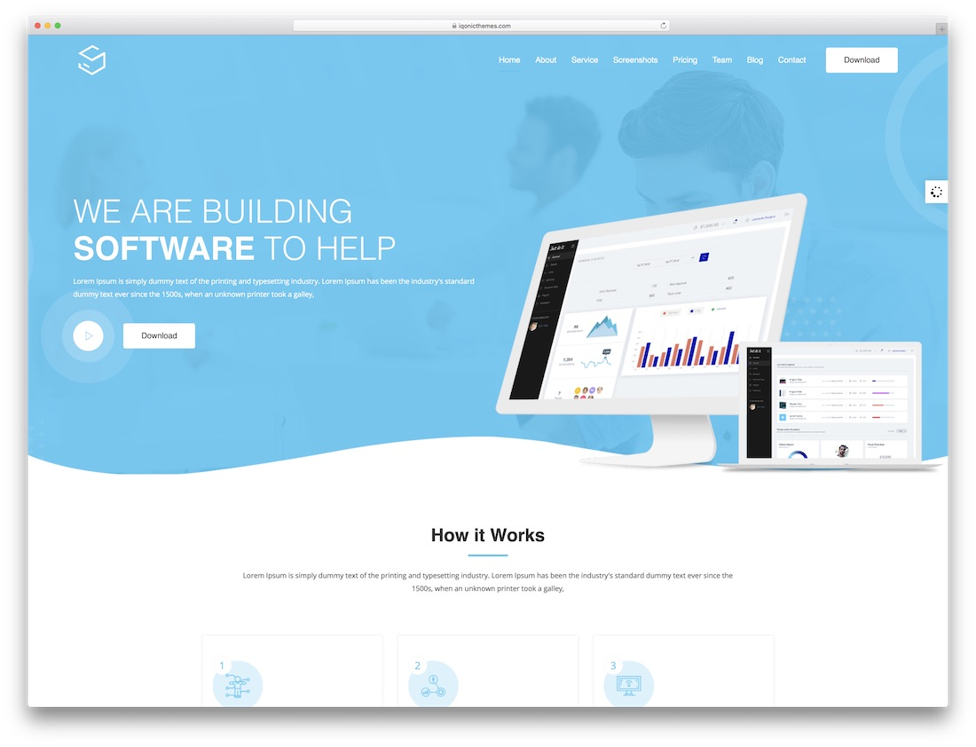 sofbox software company website template