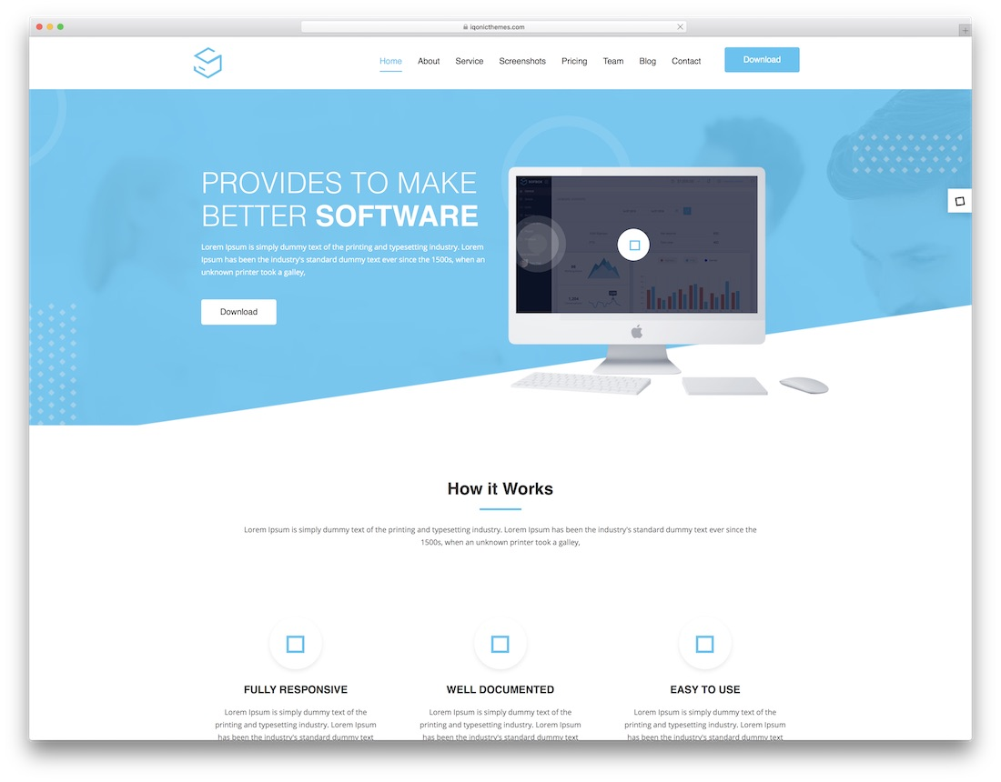 sofbox technology website template