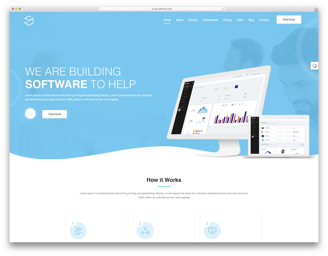 sofbox professional website template