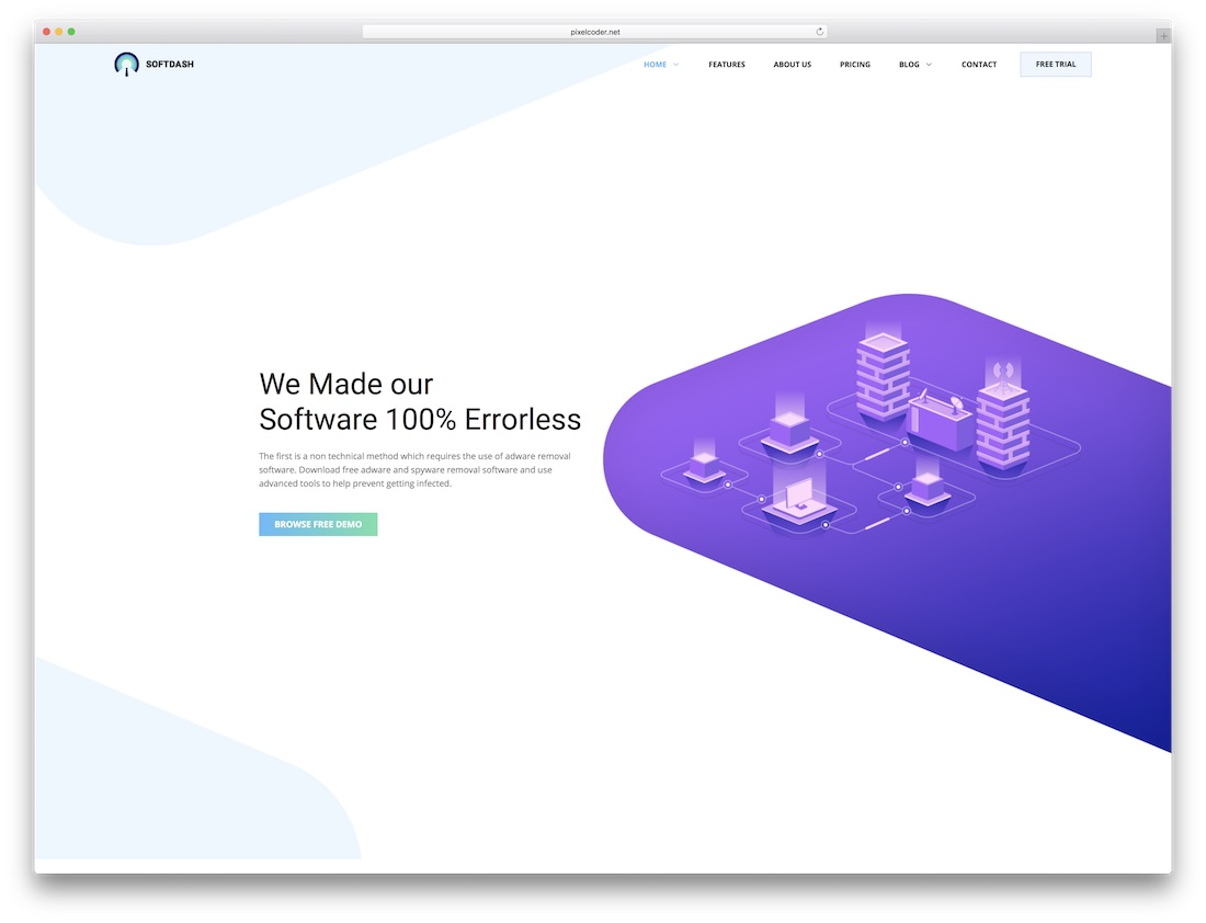 softdash software company website template