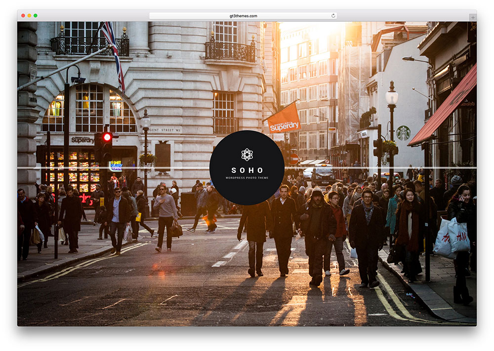 soho theme wordpress photographe