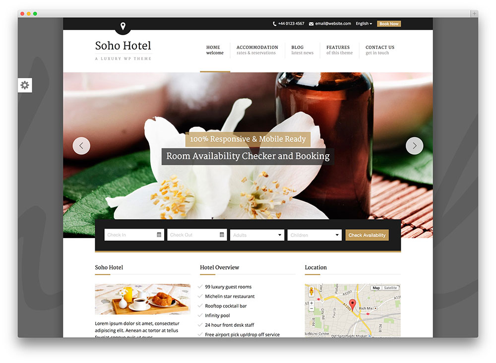 50 best wordpress travel themes for blogs hotels and for Top site reservation hotel