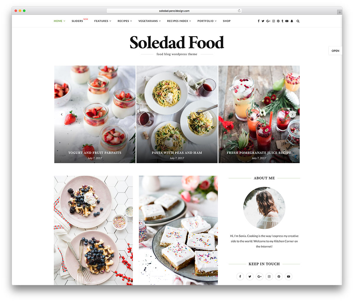 few wordpress themes can ever hope to match soledads quality it product has a sizable collection of useful features and it promises to enhance your food