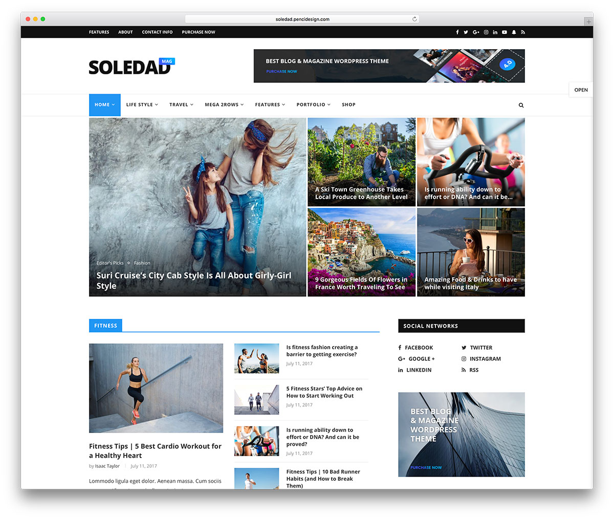 Soledad Is A Very Clean And Purposeful Theme With Creative Outlook Making It Wholly Compatible Range Of Diverse Lications Usages