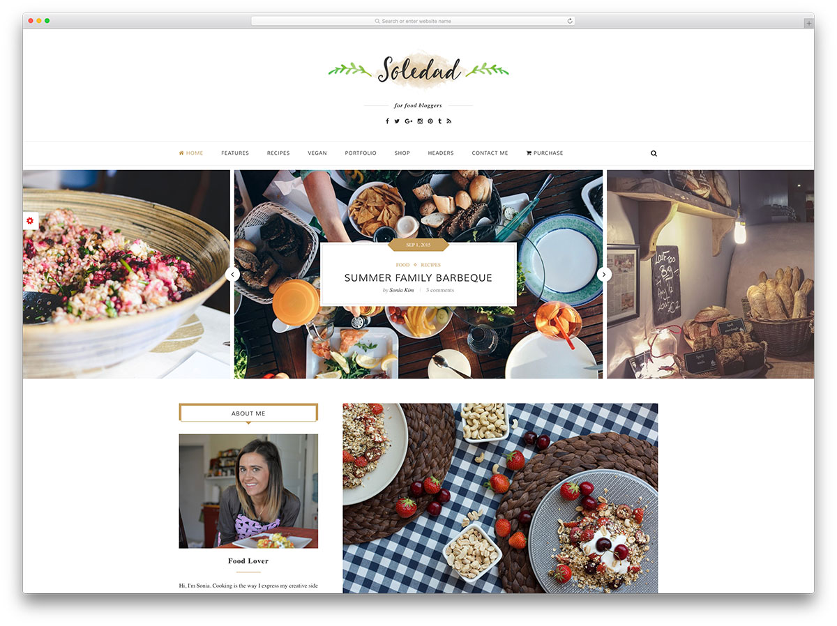 20 beautiful and mobile friendly wordpress food blog themes for soledad creative food blog wordpress theme forumfinder Gallery